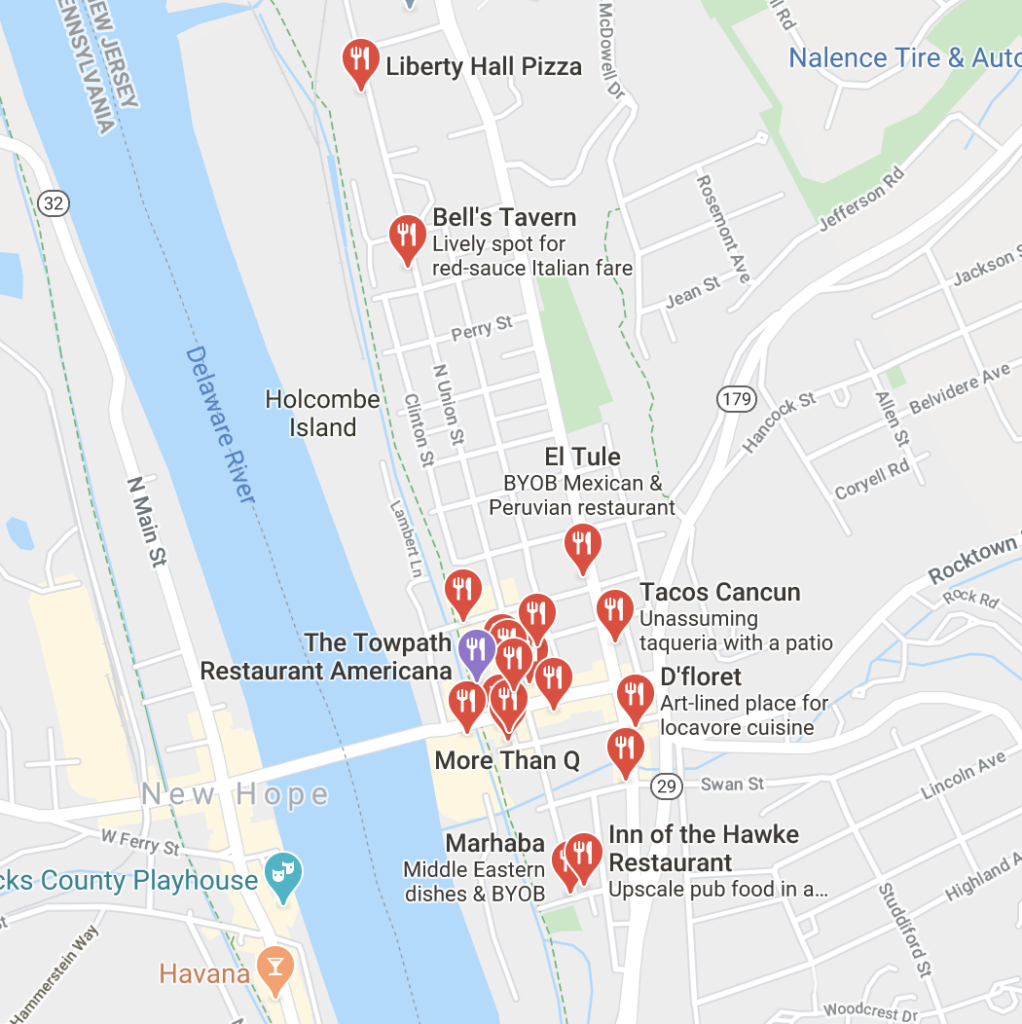 Lambertville, NJ restaurants